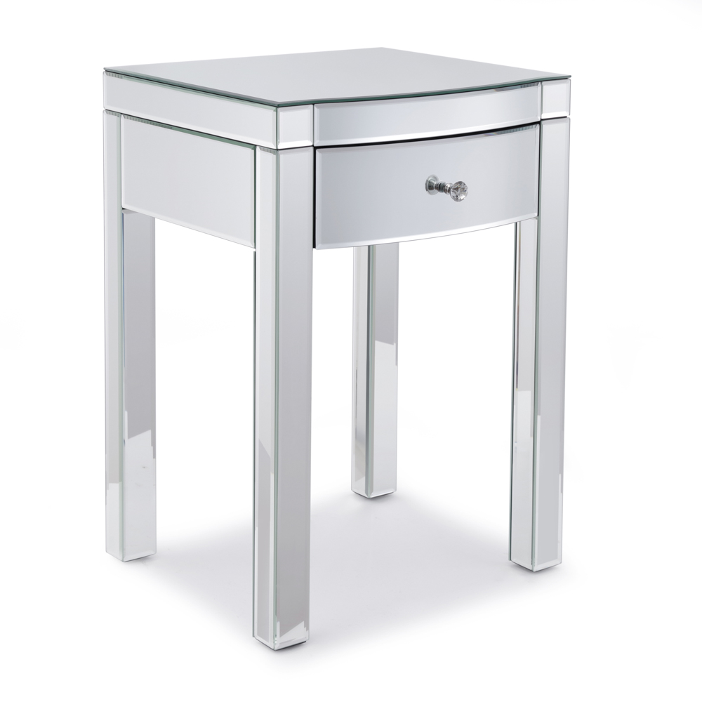 Layla Curved Mirrored Side Table