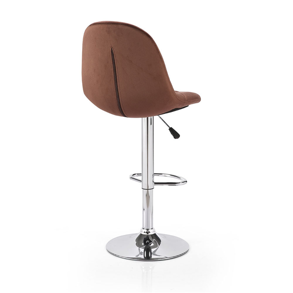 Oliver Velvet Gas Lift Bar Stool