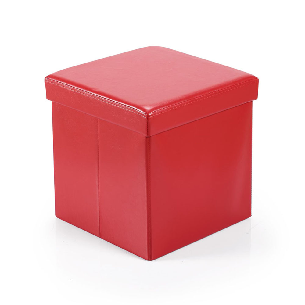Hereford Range Foldable Cube Ottoman-Red