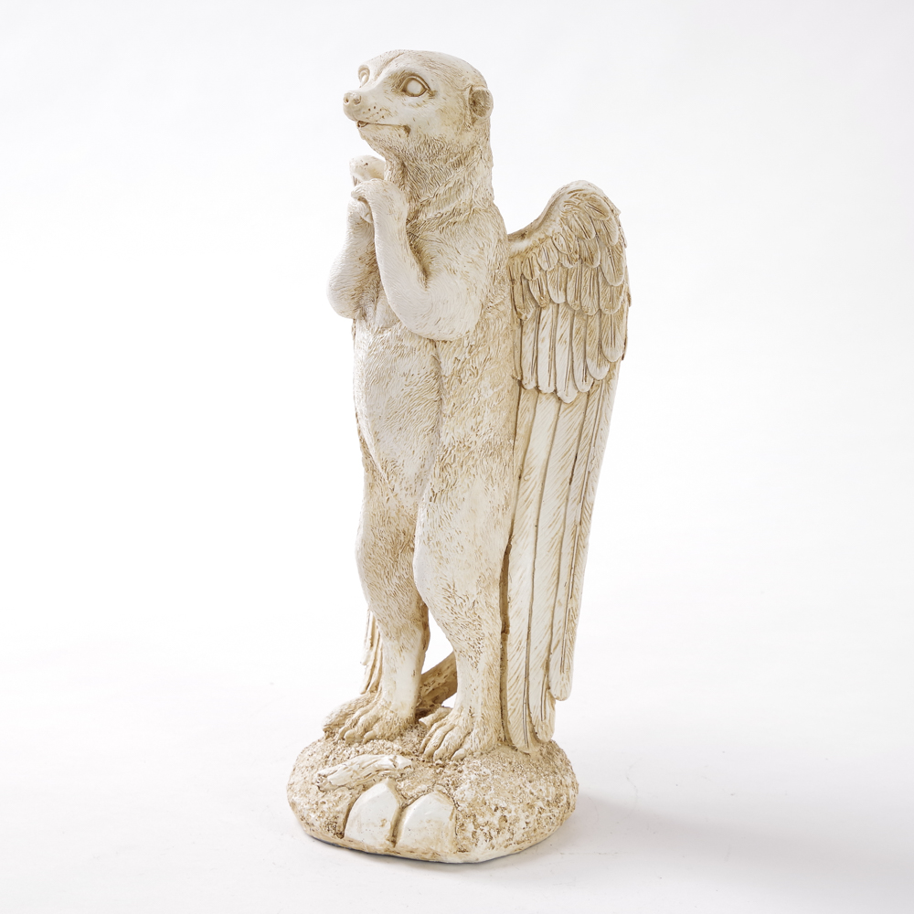 Praying Angel Mongoose Garden Ornament