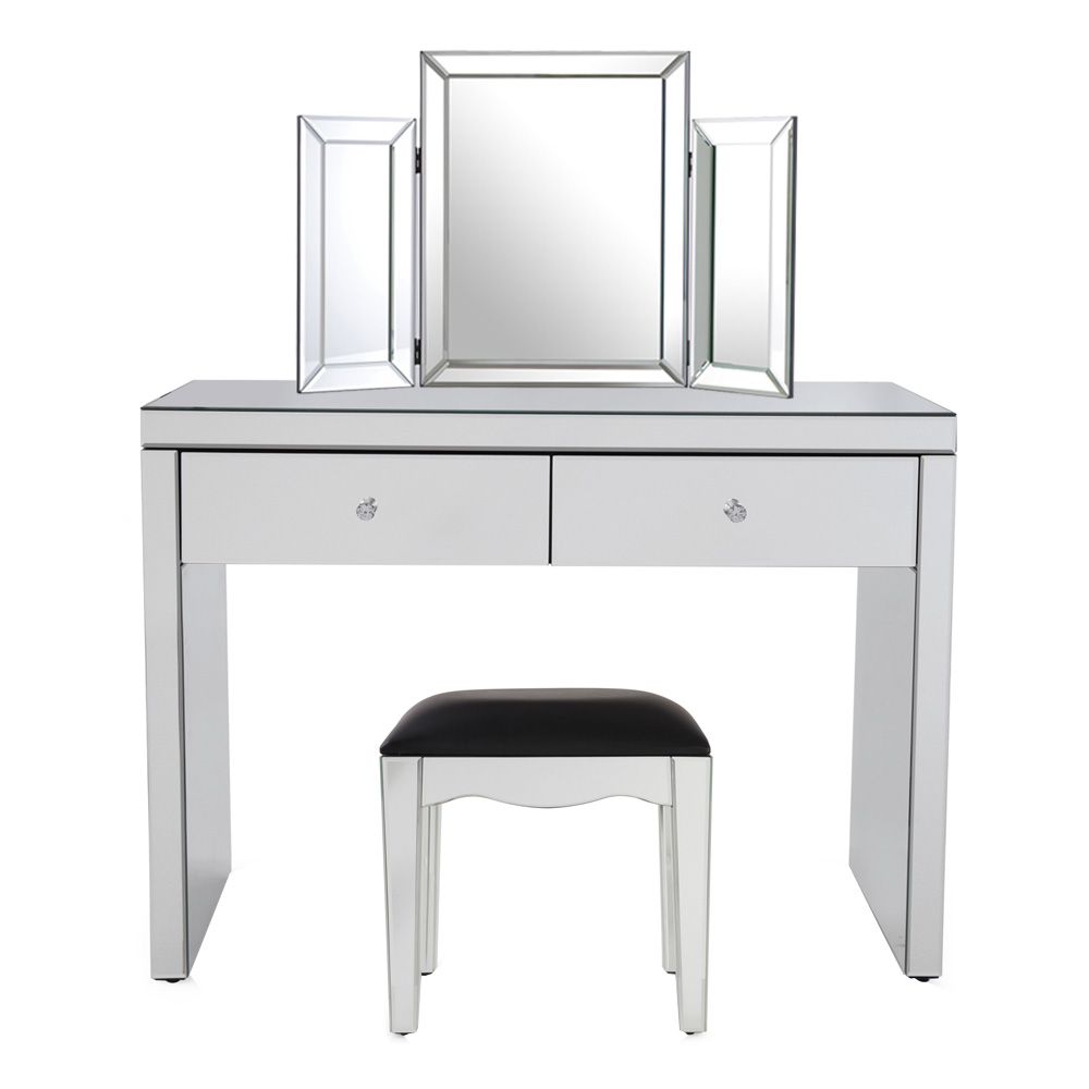Chloe Mirrored Dressing Table Set