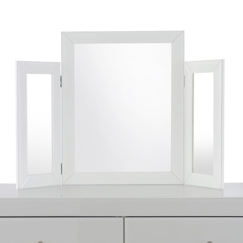 Madison White Dressing Triple Folding Mirror