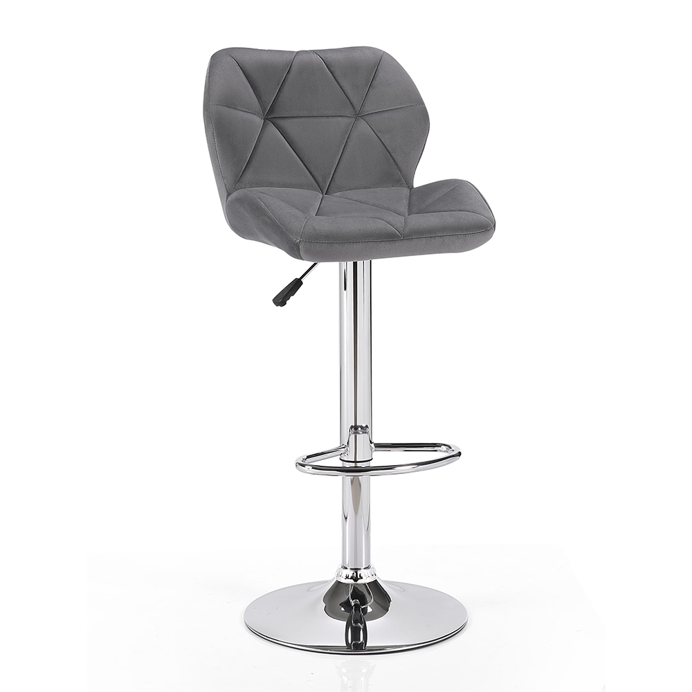 Molly Velvet Gas Lift Bar Stool