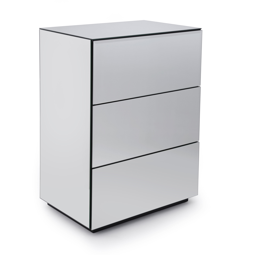 Brooklyn Toughened Mirrored Top Chest of Drawer