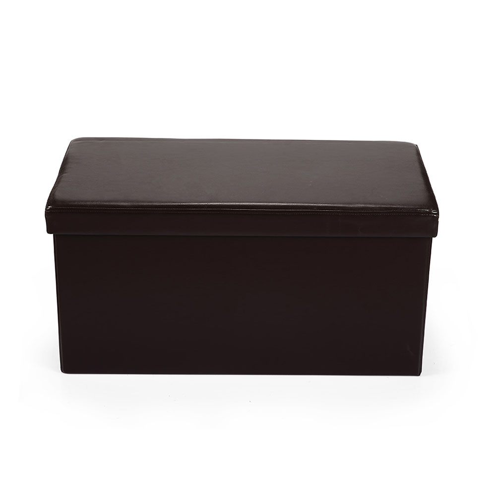 Hereford Range Foldable Large Ottoman-Dark Brown