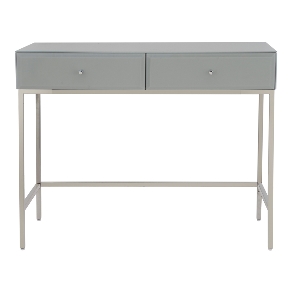 Bond Range  Grey Glass Dreseing Table